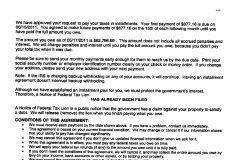 Installment Agreement - Florida